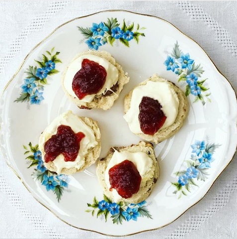 Buttery Scones with Lashings of Clotted Cream and Strawberry Jam