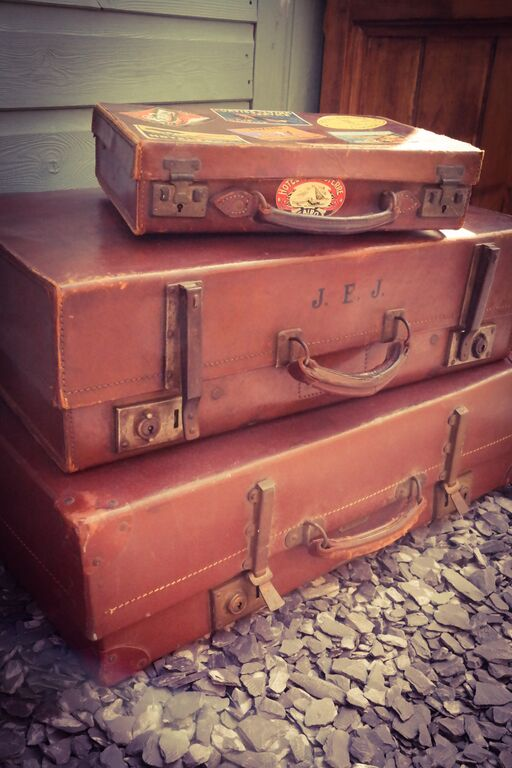 Leather Suitcase Props for Hire